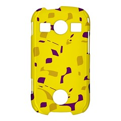 Yellow and purple pattern Samsung Galaxy S7710 Xcover 2 Hardshell Case