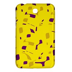 Yellow and purple pattern Samsung Galaxy Tab 3 (7 ) P3200 Hardshell Case