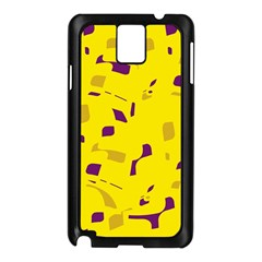 Yellow and purple pattern Samsung Galaxy Note 3 N9005 Case (Black)