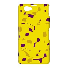 Yellow and purple pattern Sony Xperia Z1 Compact