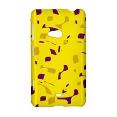 Yellow and purple pattern Nokia Lumia 625
