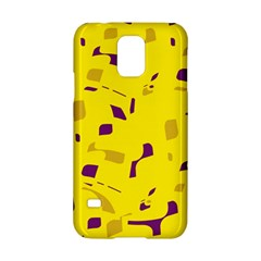 Yellow and purple pattern Samsung Galaxy S5 Hardshell Case