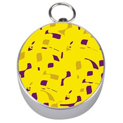 Yellow and purple pattern Silver Compasses