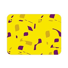 Yellow and purple pattern Double Sided Flano Blanket (Mini)