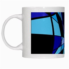 Blue abstart design White Mugs