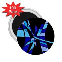 Blue abstart design 2.25  Magnets (100 pack)