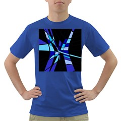 Blue abstart design Dark T-Shirt