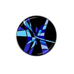 Blue abstart design Hat Clip Ball Marker (10 pack)
