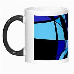 Blue abstart design Morph Mugs