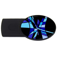 Blue abstart design USB Flash Drive Oval (4 GB)