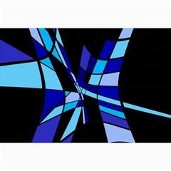 Blue abstart design Collage Prints