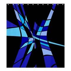 Blue abstart design Shower Curtain 66  x 72  (Large)