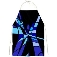 Blue abstart design Full Print Aprons