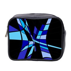 Blue abstart design Mini Toiletries Bag 2-Side