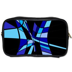 Blue abstart design Toiletries Bags 2-Side