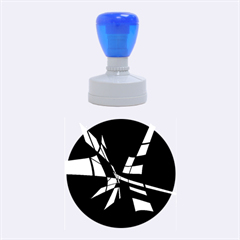 Blue abstart design Rubber Round Stamps (Medium)