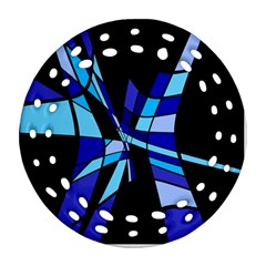 Blue abstart design Ornament (Round Filigree)