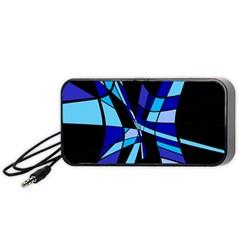 Blue abstart design Portable Speaker (Black)