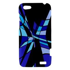 Blue abstart design HTC One V Hardshell Case
