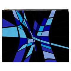 Blue abstart design Cosmetic Bag (XXXL)