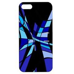 Blue abstart design Apple iPhone 5 Hardshell Case with Stand