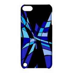 Blue abstart design Apple iPod Touch 5 Hardshell Case with Stand