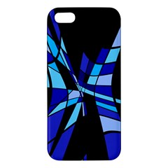 Blue abstart design Apple iPhone 5 Premium Hardshell Case