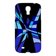 Blue abstart design Samsung Galaxy S4 I9500/I9505 Hardshell Case