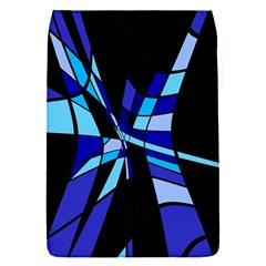 Blue abstart design Flap Covers (S)