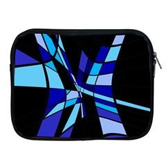 Blue abstart design Apple iPad 2/3/4 Zipper Cases