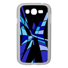 Blue abstart design Samsung Galaxy Grand DUOS I9082 Case (White)