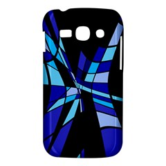 Blue abstart design Samsung Galaxy Ace 3 S7272 Hardshell Case