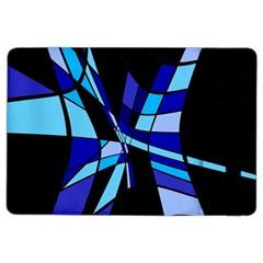 Blue abstart design iPad Air 2 Flip