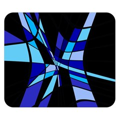 Blue abstart design Double Sided Flano Blanket (Small)