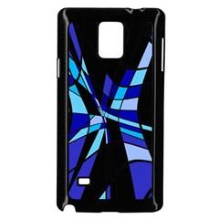 Blue abstart design Samsung Galaxy Note 4 Case (Black)