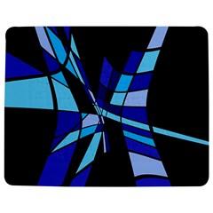 Blue abstart design Jigsaw Puzzle Photo Stand (Rectangular)