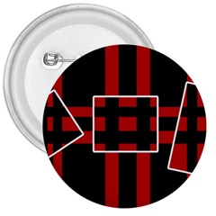 Red and black geometric pattern 3  Buttons