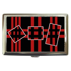 Red and black geometric pattern Cigarette Money Cases