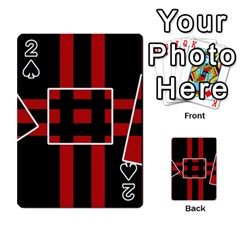Red and black geometric pattern Playing Cards 54 Designs