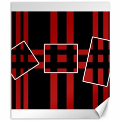 Red and black geometric pattern Canvas 20  x 24