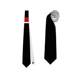 Red And Black Geometric Pattern Neckties (two Side)