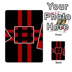 Red and black geometric pattern Multi-purpose Cards (Rectangle)