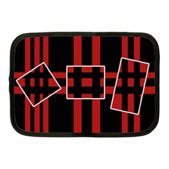 Red and black geometric pattern Netbook Case (Medium)