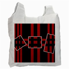 Red and black geometric pattern Recycle Bag (One Side)