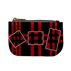 Red and black geometric pattern Mini Coin Purses