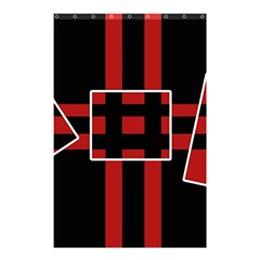 Red and black geometric pattern Shower Curtain 48  x 72  (Small)