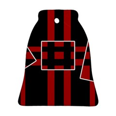 Red and black geometric pattern Ornament (Bell)