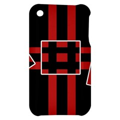 Red and black geometric pattern Apple iPhone 3G/3GS Hardshell Case