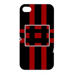 Red and black geometric pattern Apple iPhone 4/4S Hardshell Case