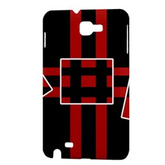 Red and black geometric pattern Samsung Galaxy Note 1 Hardshell Case